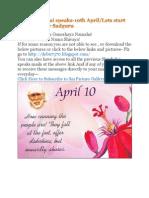 Shri Shirdi Sai Speaks for 10th April