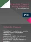 metabolism changes during pregnancy
