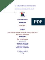 Los Sectores Económicos de la República Dominicana