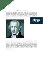 Biografía de Emmanuel Kant