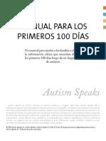 """Manual de Los 100 Dias despues del diagnostico """"Autismo"""""""