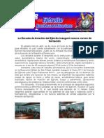 La Escuela de Aviación del Ejército inauguró nuevos cursos de formación