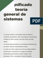 El Significado de La Teoría General de Sistemas
