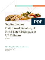Food Sanitation and Value assessment in UP Diliman