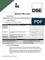 056-030 Module PIN Codes