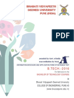 BVP CET B.Tech Brochure 2016