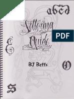 Bj Betts - Custom Lettering Guide 1