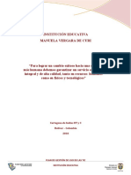 Plan de Gestion de Uso de Tic I.E. Manuela Vergara de Curi