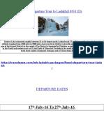 Fixed Departure Tour to Ladakh(10N/11D)