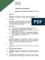 2009 - Normas y Procedimiento Del Régimen de Fedatario de La APN (1)