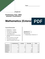 2003 SCEGGS Preliminary 3U