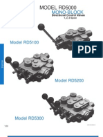 Prince Hydraulics - RD-5000 Directional Control Valves - Mono Block - Offered by PRC Industrial Supply