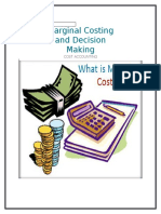 Marginal Costing and Decision Making