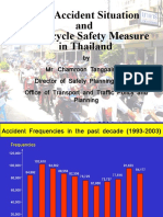 Current Accident Situation and Motorcycle Safety Measure in Thailand