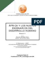 AFRICA Y LOS NUEVOS ESCENARIOS DEL DESARROLLO HUMANO BLOQUE II