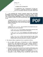 Complaint Affidavit- Malicious Mischief