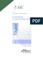 PDF Kant 1 Assise Ontologie Critique Chenet