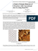 Comparative Study Of Seismic Behavior Of Honeycomb Structure With Conventional Structure By Using Staad Pro