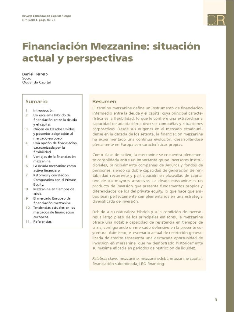 Financiacion Mezzanine