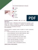 Recoltarea Sangelui Pentru Hemoleucogramă