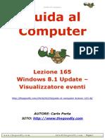 Guida al Computer - Lezione 165 Windows 8.1 Update – Visualizzatore eventi
