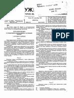 Pravilnik o Tehnickim Normativima Za Zidane Zidove 29.11.1991.