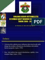 EVALUASI KASUS OSTEOMIELITIS