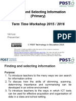 finding and selecting information - term time 2015 - 2016