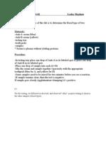 Blood Typing Lab 304