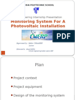 Monitoring System for a Photovoltaic Installation