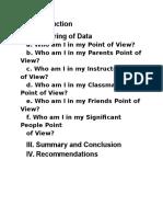 Self Analysis Report