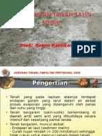 Pengelolaan Tanah Salin Sodik