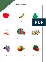 Escribe El Nombre de Las Frutas