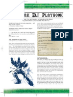 Dark Elf Playbook for Blood Bowl