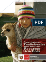 Conocimientos Tradicionales Asociados a Los Recursos Geneticos