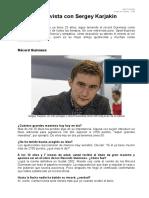 Entrevista GM Sergey Karjakin