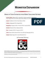 D&D 5e Monster Expansion
