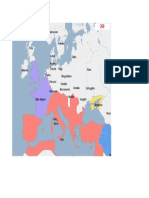 Harta Europa anul 260 d.H.