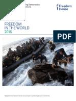 """""""Libertad en el mundo 2016. Dictadores ansiosos, democracias vacilantes"""