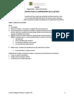 Organizador Antes de La Lectura PDF