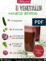 Jugo de Vegetales - Refuerza Defensas