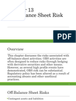 Off Balance Sheet Risk