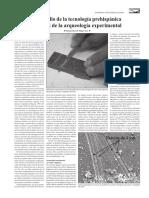 El Estudio de La Tecnologia Prehispanica