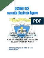Trabajo Final Plan de Gestion de Tics Bayunca