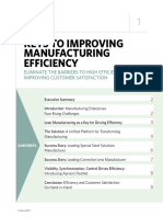 Keys to Improving Manufacturing Efficiency