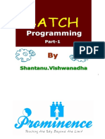 Batch Programming Basics Part-1