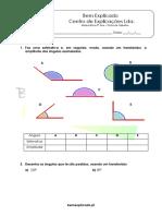3.1 Ângulos Classificação Amplitude e Medição Ficha de Trabalho 1