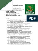 AMISOM ACTING FORCE COMMANDER TOURS DOBLEY