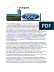 Marketing Mix analysis of Ford Motor company