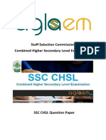SSC CHSL Question Paper 20 Dec 2015 - Morning Shift